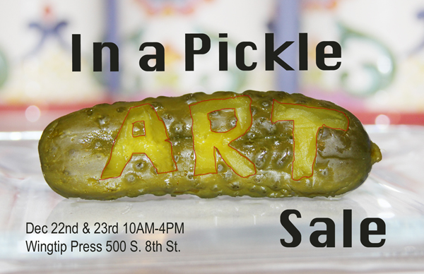 In a Pickle Art Sale Announcement